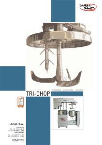 TRI-CHOP. mezclador granulador secador LLEAL S.A