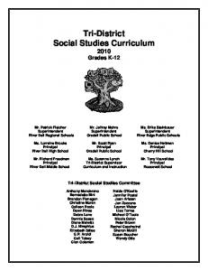 Tri-District Social Studies Curriculum 2010 Grades K-12