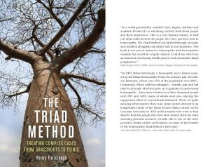 Triad Method. The. Hilary Fairclough. Treating complex cases from grassroots to clinic