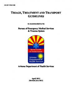 TRIAGE, TREATMENT AND TRANSPORT GUIDELINES