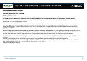 TRIATHLON TRAINING PROGRAME 12-WEEK SPRINT INTERMEDIATE