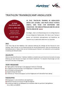 TRIATHLON TRAININGSCAMP ANDALUSIEN