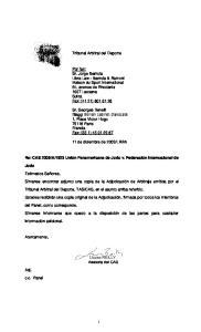Tribunal Arbitral del Deporte