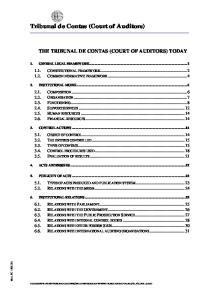 Tribunal de Contas (Court of Auditors)