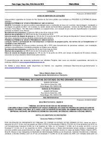 TRIBUNAL DE CONTAS DO ESTADO DO RIO GRANDE DO SUL