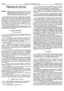 TRIBUNAL DE CUENTAS. 1, Normas generales