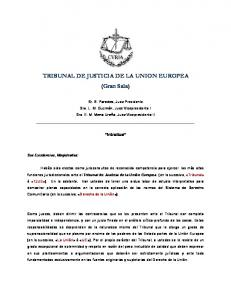 TRIBUNAL DE JUSTICIA DE LA UNION EUROPEA (Gran Sala)
