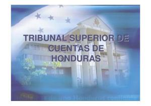 TRIBUNAL SUPERIOR DE CUENTAS DE HONDURAS