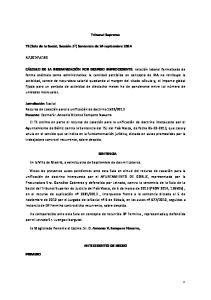 Tribunal Supremo SENTENCIA. En la Villa de Madrid, a veinticuatro de Septiembre de dos mil catorce
