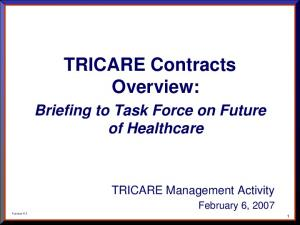TRICARE Contracts Overview: