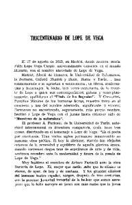 TRICENTENARIO DE LOPE DE VEGA