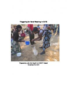 Triggering for Hand Washing in CLTS