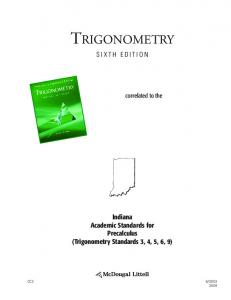 TRIGONOMETRY SIXTH EDITION