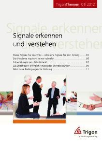 TrigonThemen Signale erkennen. Signale erkennen