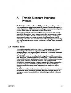 Trimble Standard Interface Protocol