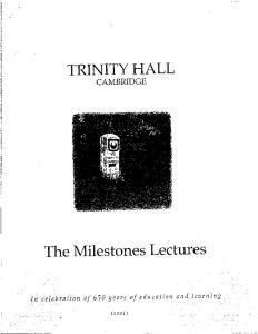 TRINITY HALL CAMBRIDGE