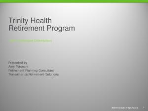 Trinity Health Retirement Program
