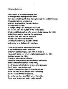 Trinity Sunday Sermon
