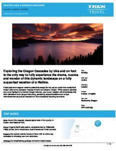 TRIP WOWS CRATER LAKE & OREGON CASCADES LUXURY 6 DAYS, 5 NIGHTS