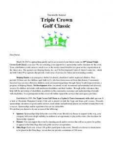 Triple Crown Golf Classic