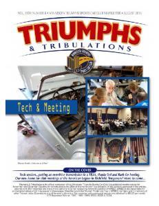 Triumphs & Tribulations, August, 2015, Page 1