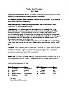 Trolley Barn Newsletter April 2008