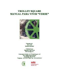 TROLLEY SQUARE MANUAL PARA VIVIR VERDE