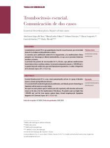 Trombocitosis esencial. Comunicación de dos casos