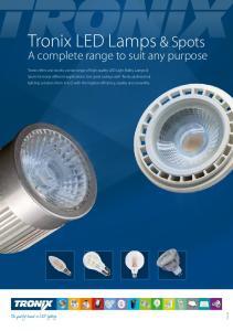 Tronix LED Lamps & Spots