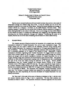 Tropical Cyclone Report Hurricane Katrina August 2005