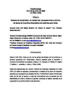TROPICO al 20 de junio de 2008 La Haba, Cuba