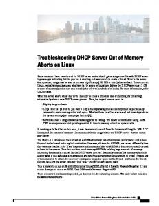 Troubleshooting DHCP Server Out of Memory Aborts on Linux