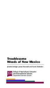 Troublesome Weeds of New Mexico