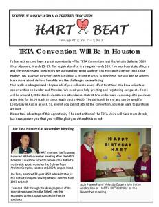 TRTA Convention Will Be in Houston