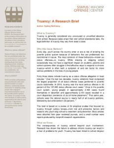 Truancy: A Research Brief