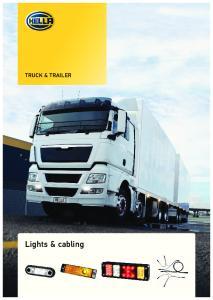 TRUCK & TRAILER. Lights & cabling
