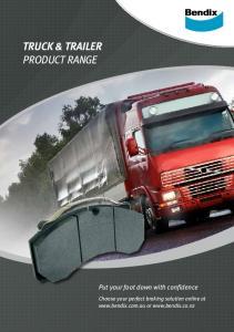 TRUCK & TRAILER PRODUCT RANGE