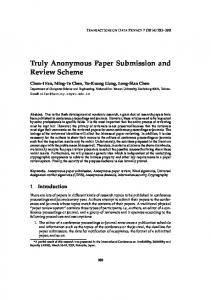 Truly Anonymous Paper Submission and Review Scheme