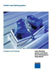 TRUMPF Laser Marking Systems