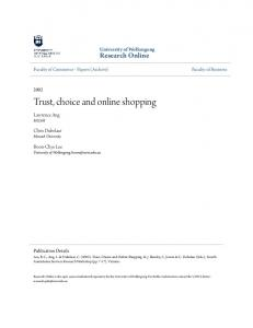Trust, choice and online shopping
