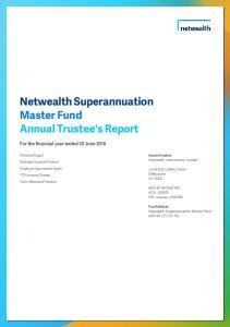 trustee: Fund details: