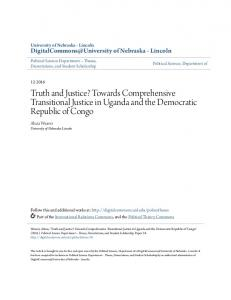 Truth and Justice? Towards Comprehensive Transitional Justice in Uganda and the Democratic Republic of Congo