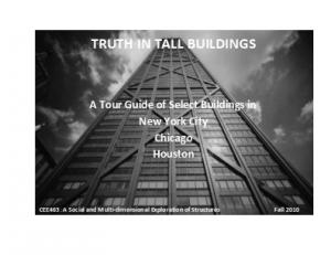 TRUTH IN TALL BUILDINGS