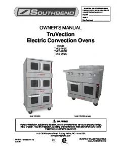 TruVection Electric Convection Ovens