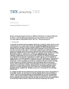 TRX consulting TRX TRX. consulting. engineering & earth sciences