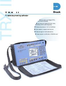 TRX II. Portable documenting calibrator