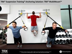TRX Suspension Training Anchoring Solution: TRX MultiMount