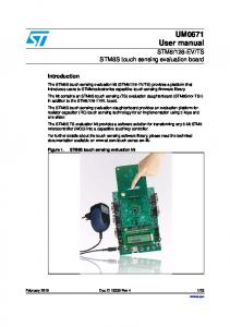 TS. STM8S touch sensing evaluation kit. Introduction