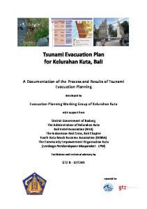 Tsunami Evacuation Plan for Kelurahan Kuta, Bali