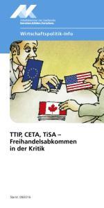 TTIP, CETA, TiSA Freihandelsabkommen in der Kritik
